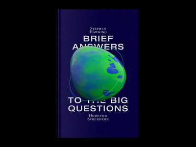 Brief Answers to the Big Questions book cover experimental poster art identity graphicdesign branding typography design