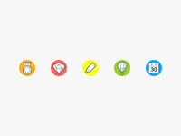 Icon set «value added services»