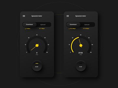 Speedometer App Design (VPN App} 2 interaction flat uiuxdesign uiux ios ios app design flat design design designs app