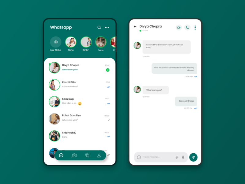 Whatsapp Redesign dribbble whatsapp whatsapp redesign uxui ux interfacedesign interaction design ux design uxdesign ui  ux interaction flat uiuxdesign uiux ios ios app design flat design design designs app