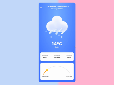 Weather App XDdailychallenge | Weather Landing page mobile application design uiux uidesign mobile app design animation weather app ui design weather landing page weather app