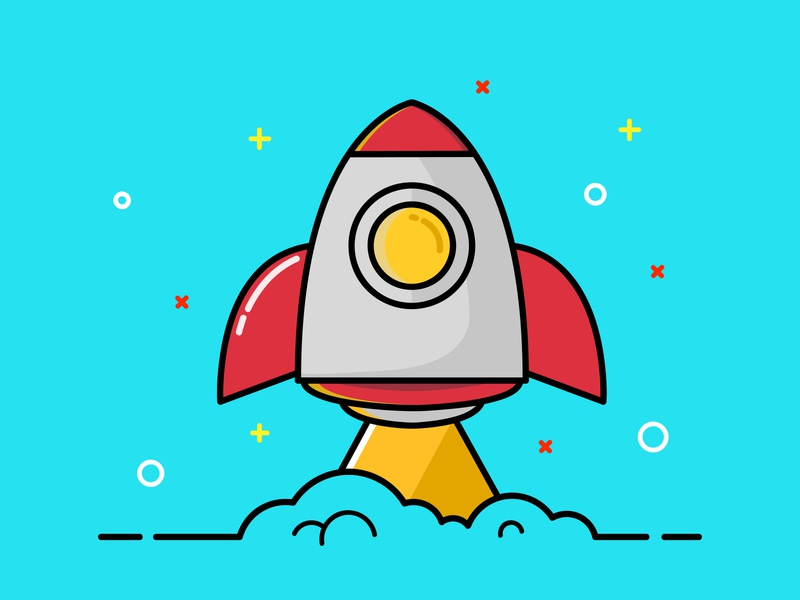 THE ROCKET branding logo commercial art graphicdesign icon design vector illustrator illustration art illustration