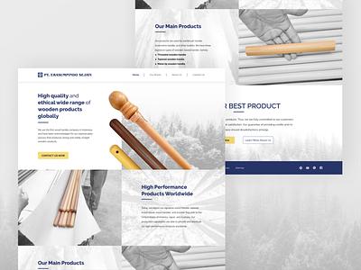 Erasumpindo Company Profile Website Design website design wood company profile web landing page web design uidesign ux ui website