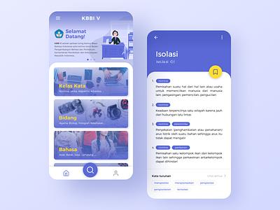 KBBI V App uidesing dictionary dictionary app app design mobile app design mobile design mobile app ux ui app