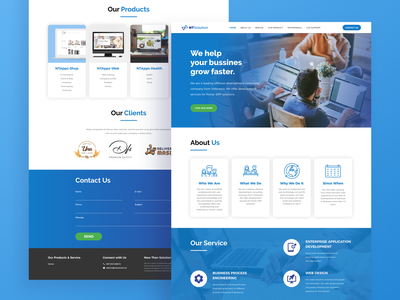 NTSolution Web Design website web design web uiux ux uidesign ui landing page company profile