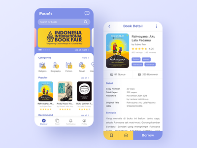 iPusnas App book app library library app book uidesign uiux mobile ui mobile app design mobile design mobile app mobile app design app ux ui