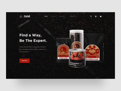 Feodal Coffee Website Animation animated website prototype protopie coffee website coffee roaster coffee homepage website design web design website landing page ux ui