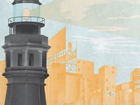 The Lighthouse From Our Upcoming Black Keys Gig Poster
