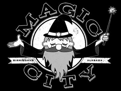 Finished Magic City Wizard Logo/Merch Design
