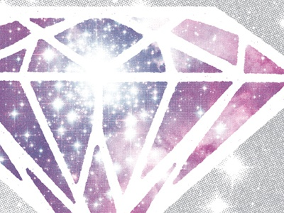 Early sneak peek at a gig poster we're working on galaxy space stars diamond gems collage sky hero design studio illustration gig poster screen printing silkscreen concert poster