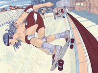 """Pool Session"" - New 6-color Silkscreened Art Print"