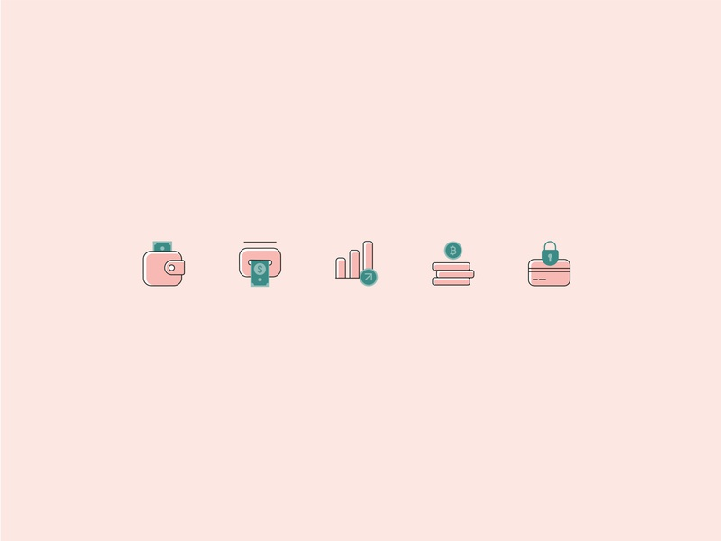 Finance Icons Exploration payment app payment wallet money finance web ui icon vector flat illustration design