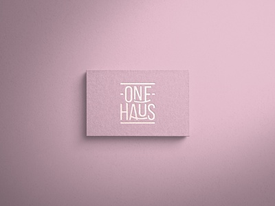 One Haus Logo vector ui typography flat minimal branding logo illustration design