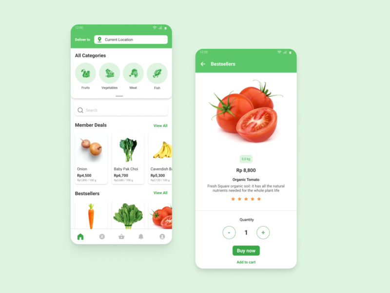 Grocery App Concept product detail grocery app ui design