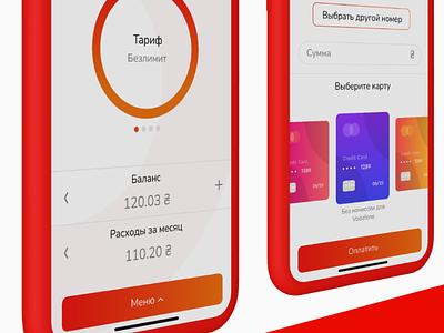Vodafone app concept dailyui design ui ux figma