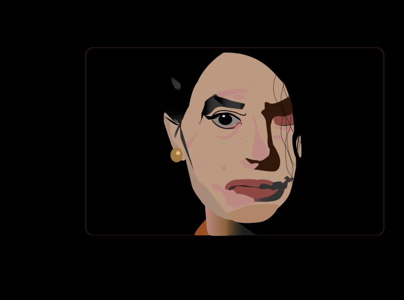 Reshma Qureshi,The face of the Make Love Not Scars India adobe illustrator flat illustration illustration