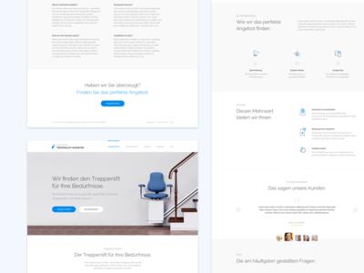 DTE Landing Page blue ux ui homepage branding minimal interface web design web website