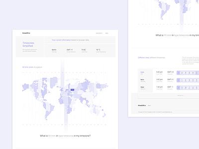 timeshift.io Landing Page web interface webdesign design sideproject dailyui screendesign landingpage city map world website