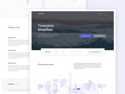 timeshift.io Landing Page V2 website world map city landingpage screendesign dailyui sideproject design webdesign interface web