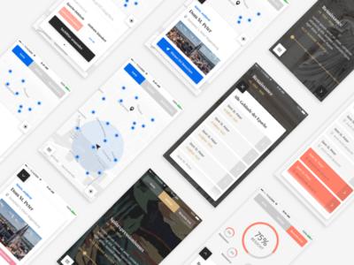 World Heritage App Screens map flow dailyui design mobile ux ui ios app interface