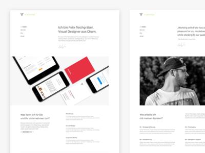 Portfolio Exploration web screen landing page design web design portfolio branding one page homepage responsive