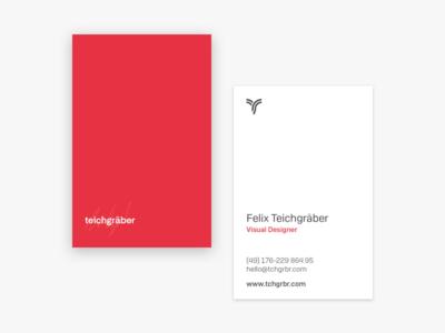 teichgräber Business Cards card business card typography font brand corporate identity sign logotype logomark identity branding logo