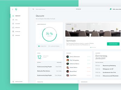 PP Dashboard dashboard digital web intranet corporate screendesign app interface user ui ux