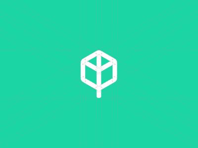 Cube + Tree Logo typography font brand corporate identity sign logotype portfolio logomark identity branding logo