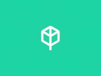 Cube + Tree Logo