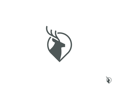 Deer + Map Logo typography font brand corporate identity sign logotype logomark identity branding logo