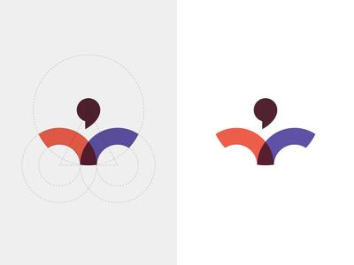 Human Logo Exploration V2 font sign color minimal typography blue identity branding logomark logotype logodesign logo