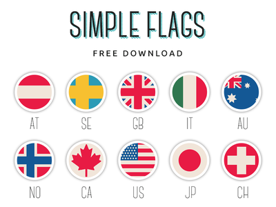 Simple Flags- Free PSD flags vintage free psd simple flag country countries usa us canada uk