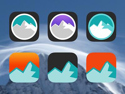 Edge Ski v2.0 Icons ski skiing app edge ski ios icon app icon mountain ui iphone graph dashboard