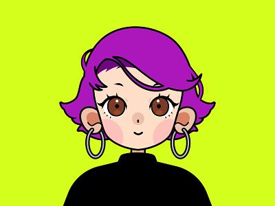 Dribbble Avatar profileimage avatar anime clip paint studio clippaintstudio flat illustration adobe illustrator
