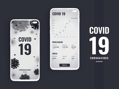 Coronavirus - COVID19 Tracker ux ui logo creative design new trend website design illustraion new design graphic design ui  ux mobile app development company uidesign covid-19 coronarender coronavirus