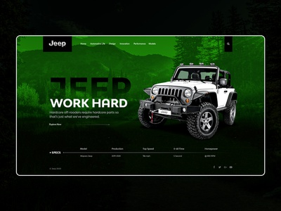 Jeep - Landing Page Template jeep
