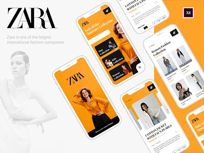 ZARA - Mobile App Design concept redesign yellow ecommerce zara fashion brand fashion mobile app design ui mobile app development company design new trend uidesign creative design