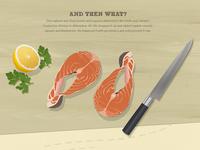 Cut Salmon Illustration