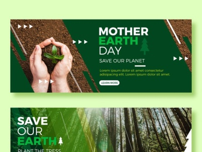 flat mother earth day banners with photo 23 2148873135
