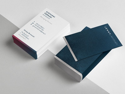 Jenny Avvocati printing fosbury italy milan paper texture branding design lawyers logo design businesscard stationery branding