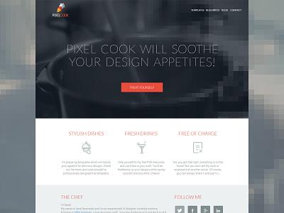 Pixel Cook - Free PSDs wordpress free psd psd freebie web design web website download clean minimal flat