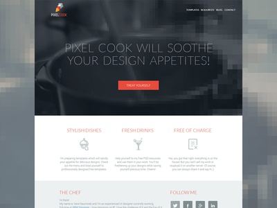 Pixel Cook - Free PSDs