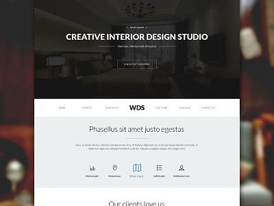 Modern Corporate Design freebie freepsd psd template web corporate flat website business