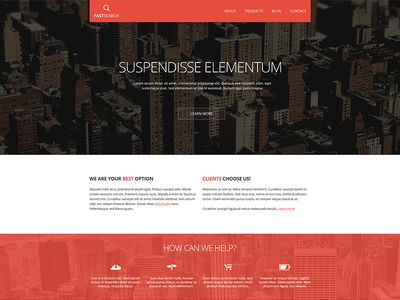 Fast Search – Corporate Template corporate website template freepsd download web soon wip red flat minimal