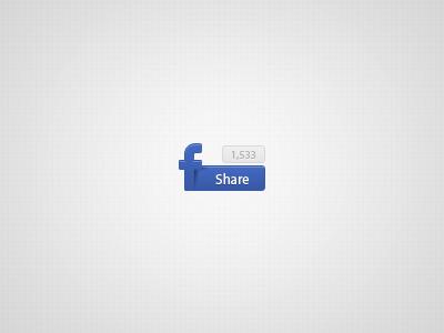 Facebook Button facebook share blue ui button social network shadow
