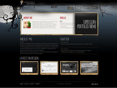 pcklab.com - homepage dark grunge thumbnail design website moon zombie homepage