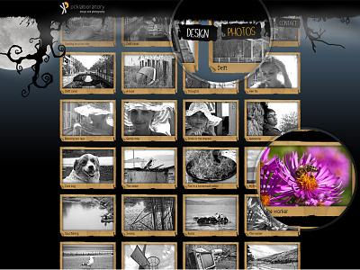 pcklab.com - menu & thumbnail hover dark grunge website personal thumbnail hover menu color black white