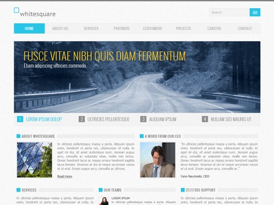 Corporate Blue - Free PSD psd free psd template freebie corporate business clean modern blue theme download