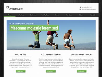 Freebie - Greenish template green template free psd psd download free website freebie design clean