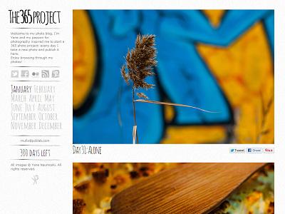 365 photo project photo photography blog web texture grunge sidebar 365project